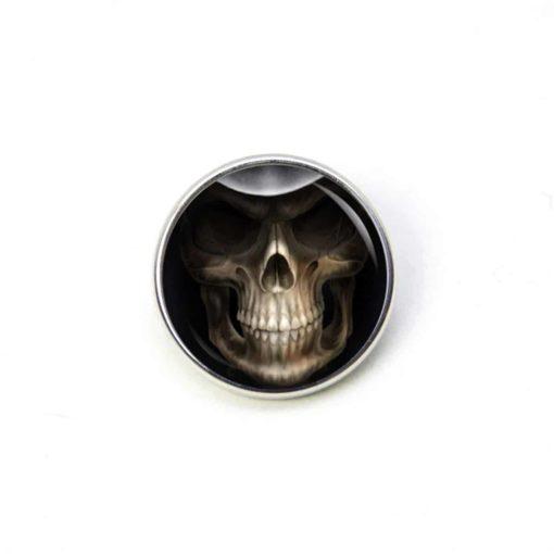 Druckknopf Ohrstecker Ohrhänger Halloween Totenkopf