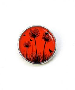 Druckknopf zarte Pusteblume in Rot
