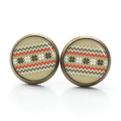 Druckknopf / Ohrstecker / Ohrhänger  mit Weihnachtlichem Motiv