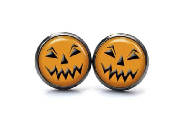 Druckknopf / Ohrstecker / Ohrhänger lustiges Halloween Gesicht
