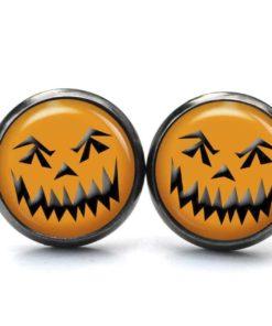 Druckknopf / Ohrstecker / Ohrhänger böses Halloween Gesicht