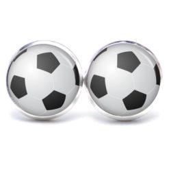 Druckknopf Ohrstecker Ohrhänger Fußball EM WM