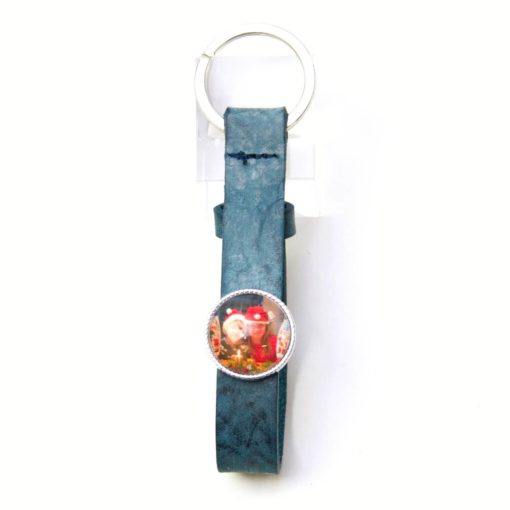 Schlüsselanhänger Leder schwarz mit beliebigem Motiv aus dem Shop