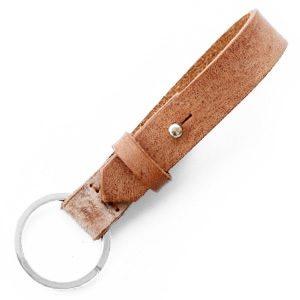 Schlüsselanhänger Leder sandfarben mit eigenem Bild