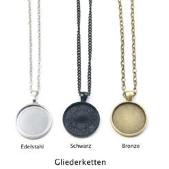 Gliederketten Edelstahl, schwarz Bronze