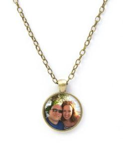 Kette Bronze mit Foto personalisiert