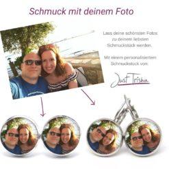 Ohrstecker / Ohrhänger mit eigenem Foto Bild personalisieren - Edelstahl