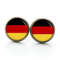 Druckknopf Ohrstecker Ohrhänger deutsche Flagge Fahne Fußball EM WM