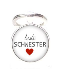 Schlüsselanhänger beste Schwester - Herz Lieblingsmensch