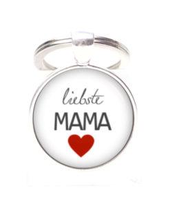 Schlüsselanhänger Liebste Mama - beste Mama - Herz