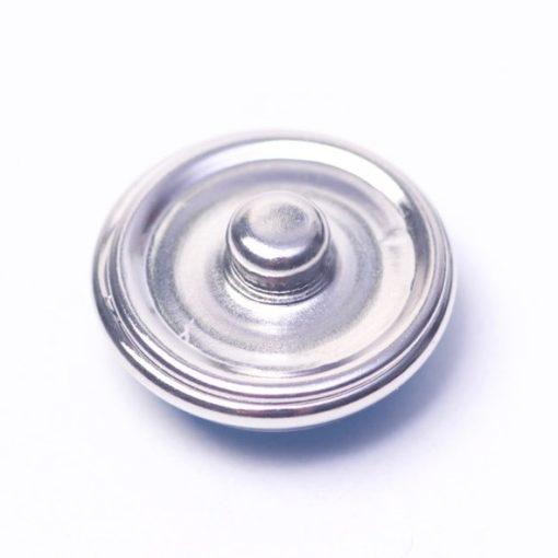 Druckknopf handbemalt rostrot für Druckknopfschmuck