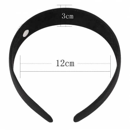 Druckknopf Haarreifen schwarz für 16mm Druckknopf