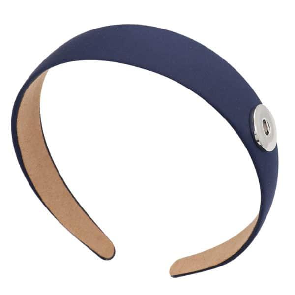 Druckknopf Haarreifen blau für 16mm Druckknopf