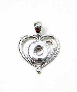 Mini Druckknopf Anhänger Herz für 10mm Druckknopf