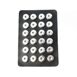 Druckknopf Schlüsselanhänger Leder schwarz für 16mm Druckknopf