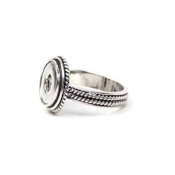 Verspielter Druckknopf Ring für 10mm Druckknopf Größe 18,5