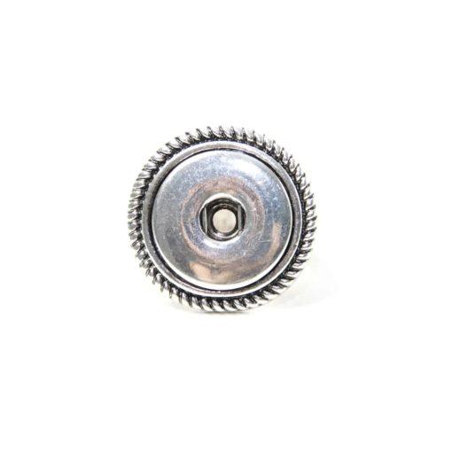 Verspielter Druckknopf Ring für 16mm Druckknopf Größe 18