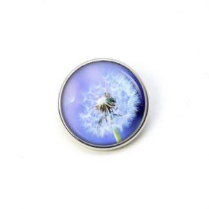Druckknopf große Pusteblume in blau
