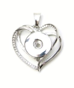 Druckknopf Anhänger verschlungenes Herz für 16mm Druckknopf