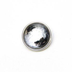 Druckknopf handbemalt klassisch schwarz grau silber