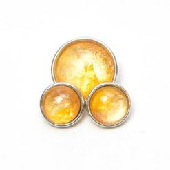 Druckknopf handbemalt Sonnenschein in leuchtend Gelb