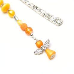 Lesezeichen Engel in orange und gelb