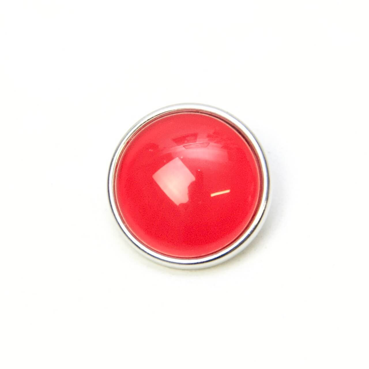 Druckknopf handbemalt in uni Farben Kirsch rot