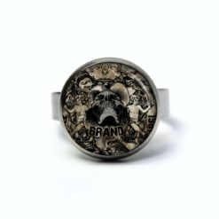 Edelstahl Ring schwebender Totenkopf - verschiedene Größen