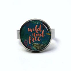 Edelstahl Ring in türkis wild and free - verschiedene Größen