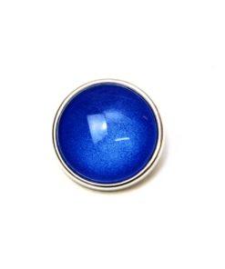 Druckknopf handbemalt in uni Farben Königsblau