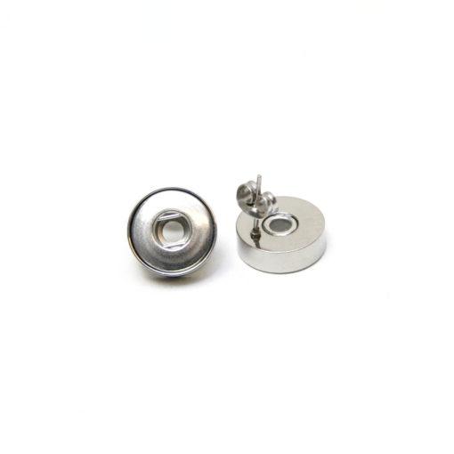 Druckknopf Edelstahl Ohrstecker für 10mm Mini Druckknopf