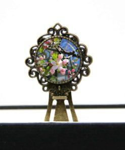 Lesezeichen Klammer Apfelbaum Blüten Frühlingsblumen
