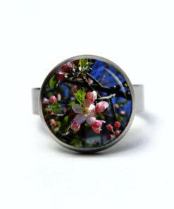 Edelstahl Ring Apfelbaum Blüten Frühling - verschiedene Größen