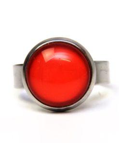 Edelstahl Ring handbemalt kräftig orange - verschiedene Größen