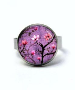 Edelstahl Ring Lila Kirschblütenzauber - verschiedene Größen