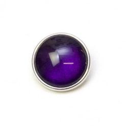 Druckknopf handbemalt dunkel violett schimmernd