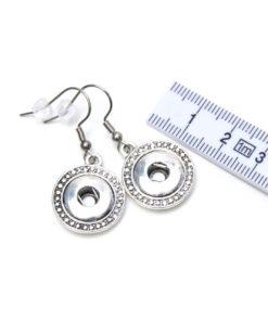 Edelstahl Druckknopf Ohrhänger orientalisch für 10mm Mini Druckknopf
