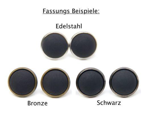 Druckknopf / Ohrstecker / Ohrhänger Pusteblume beige