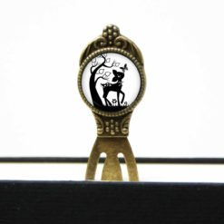 Lesezeichen Klammer Reh Rehkitz Bambi Schmetterling schwarz weiß