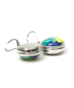 Druckknopf Ohrhänger Edelstahl für 16mm Druckknöpfe