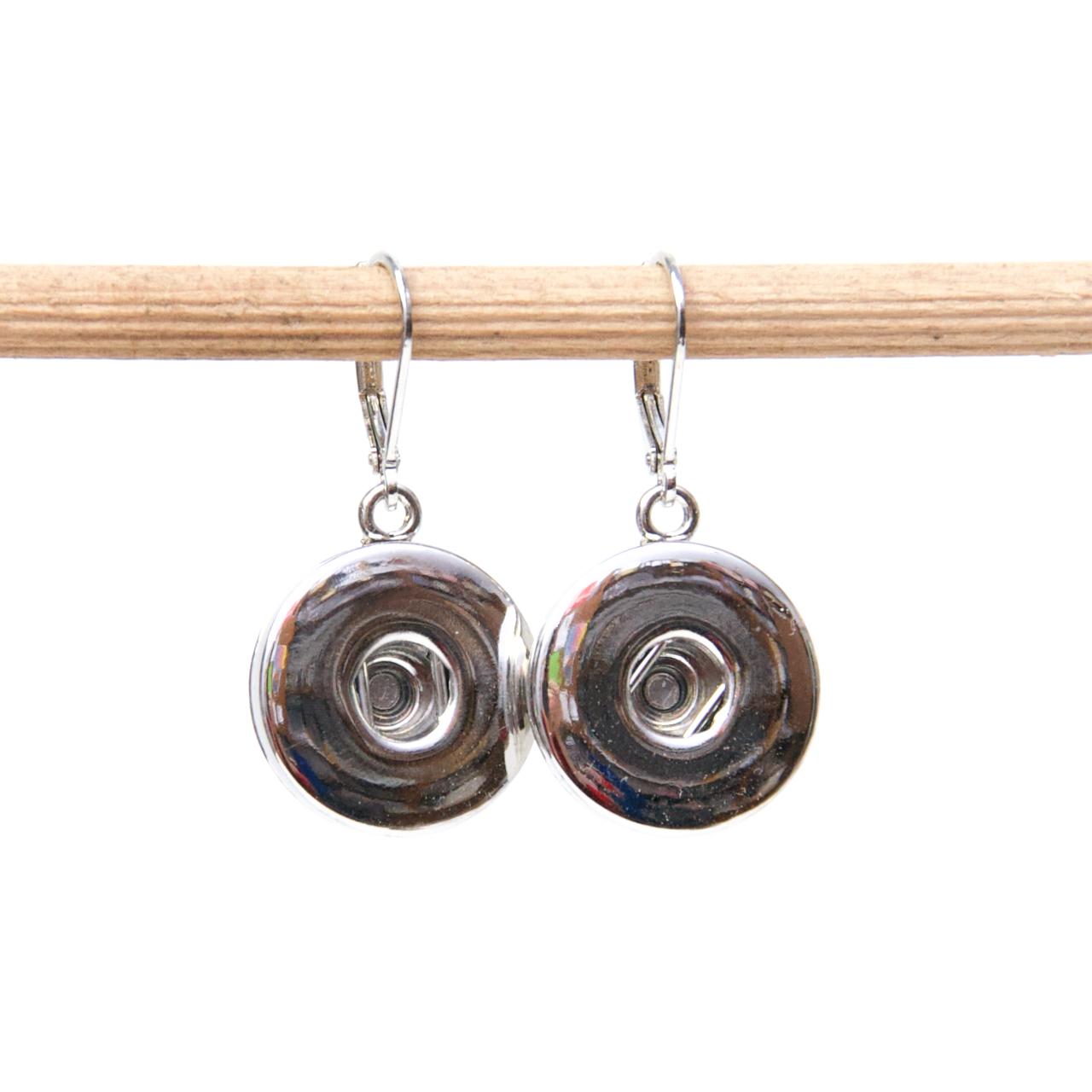 Druckknopf Ohrringe für 16mm Druckknöpfe - Edelstahl