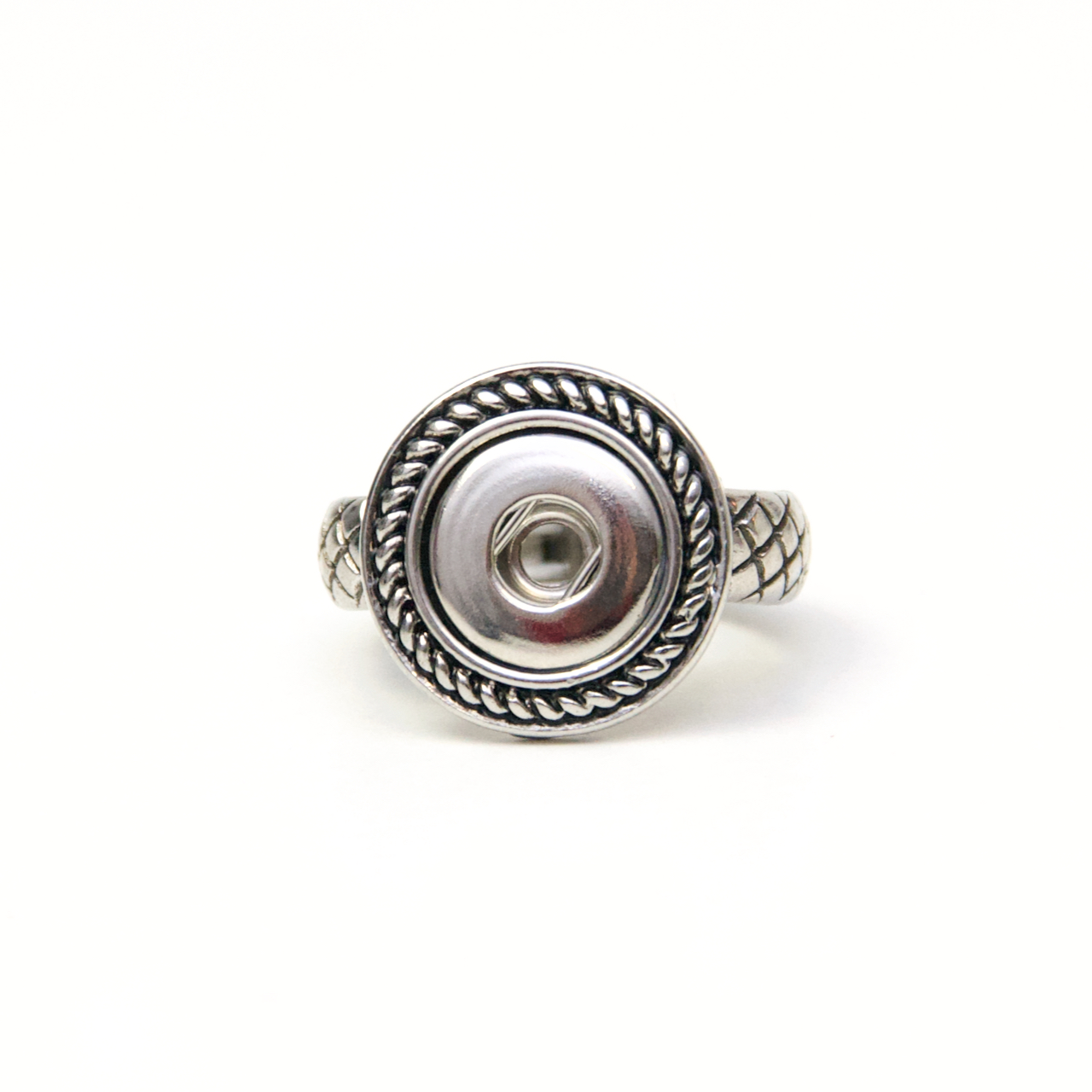Antik wirkender Druckknopf Ring für 10mm Druckknopf Größenverstellbar