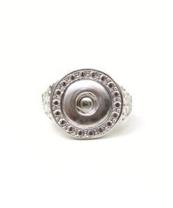 Verzierter Druckknopf Ring für 10mm Druckknopf Gr 20