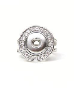 Druckknopf Ring mit Strass für 10mm Druckknöpfe