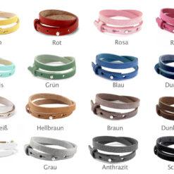 Leder Farben zur Auswahl