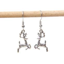 Weihnachtliche Reindeer Ohrhänger - Edelstahl