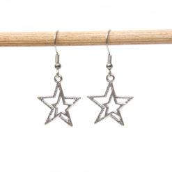 Weihnachtkiche Stern Ohrhänger - Edelstahl