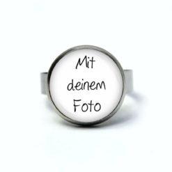 Ring mit eigenem Foto Bild personalisieren - Edelstahl