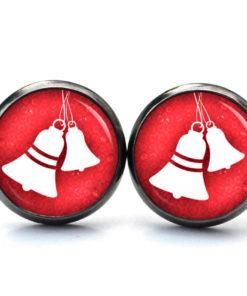 Weihnachtliche Ohrstecker mit Glocke