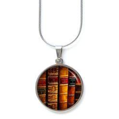 Edelstahl Kette Bücher Bücherregal Leseratte Lesen